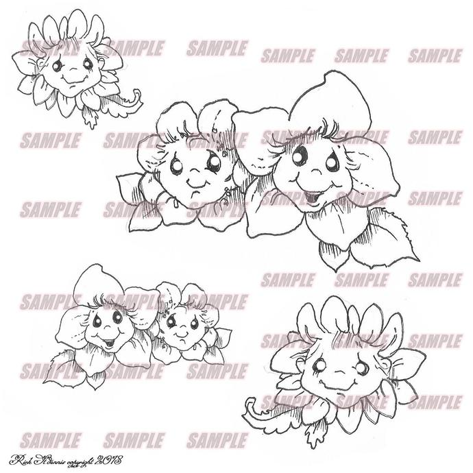 Kawaii wonderland flowers