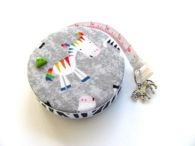 Tape Measure Colorful Zebras Pocket  Retractable Measuring Tape