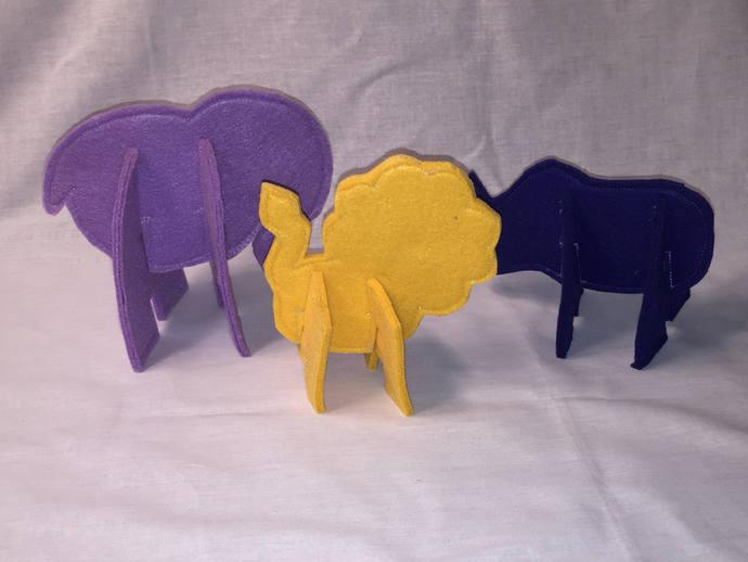 3D Puzzle Animals, Jungle Set