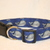 Gray Whales on blue Adjustable Dog & Cat Collars & Martingales & Leashes