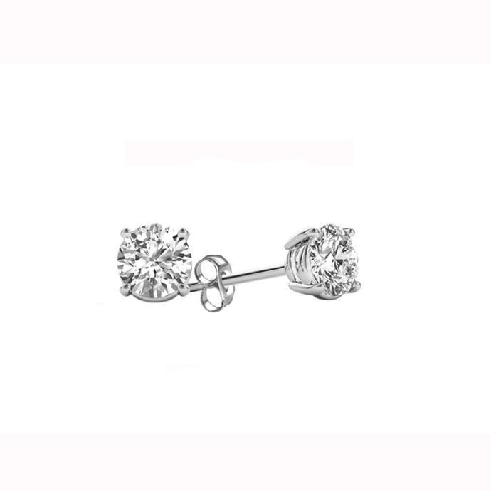 IGI Certified De Couer White Gold 3/8ct TDW Diamond Stud Earrings for Women set