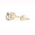 IGI Certified De Couer Yellow Gold 3/8ct TDW Diamond Stud Earrings for Women set