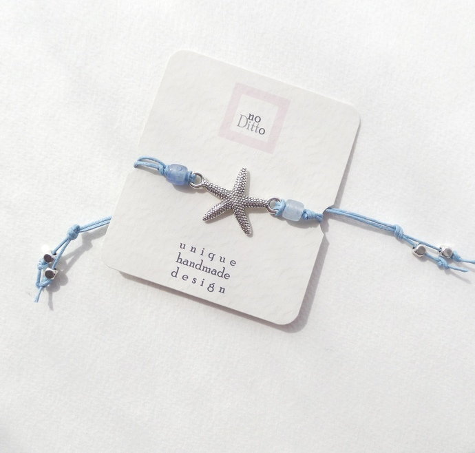 Beach Lovers Bracelets - colour choice, cotton cord, sliding knot bracelet in