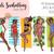 Watercolour fashion illustration clipart - Girls Sunbathing - Dark Skin