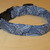 Blue Paisley Metallic Adjustable Dog & Cat Collars & Martingales & Leashes