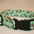 Green White Holly Christmas Adjustable Dog & Cat Collars & Martingales & Leashes