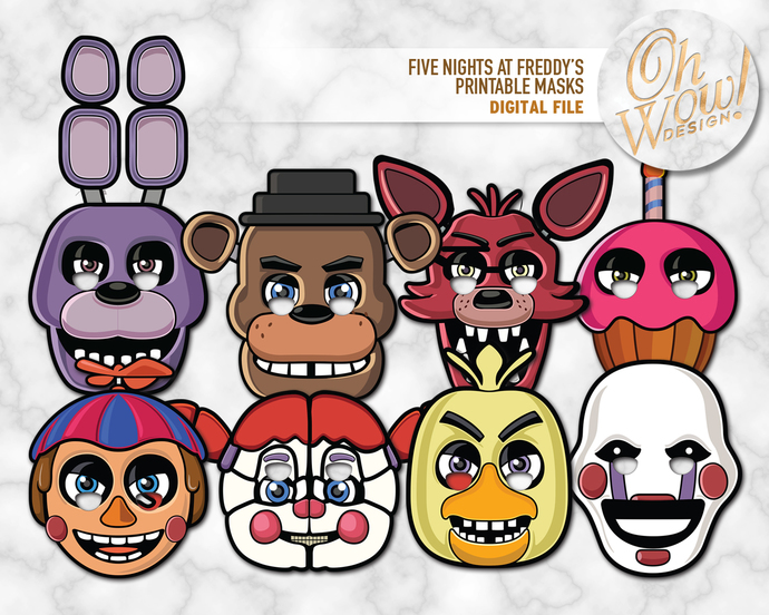 image relating to Five Nights at Freddy's Printable Mask known as 5 Evenings at Freddys Masks: Electronic Record