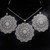 The Silver Wheel Filigree Pendant and Earring Set