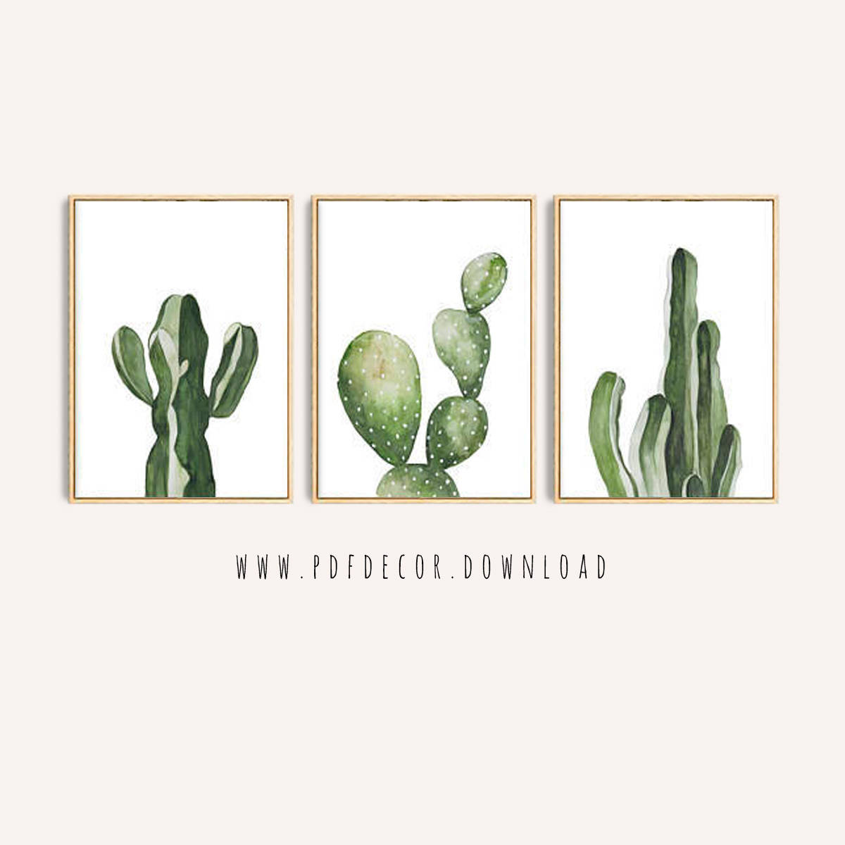 Cactus Print Set, Set of 3 Cactus Art, Set of 3 Prints, Wall Art, Cactus Art, Tropical, Cactus Decor, Cacti, Art, Greenery, Botanical, Print