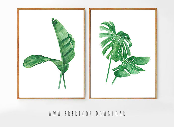 Set of 2 Tropical Prints, Set of 2 Prints, Set of 2 Wall Art, Set of 2