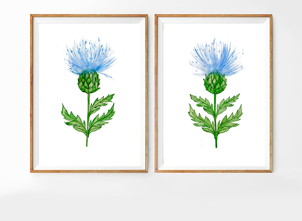 Set of 2 Nature Prints, Set of 2 Prints, Set of 2 Wall Art, Set of 2 Watercolor, Set of 2 Green Prints, Watercolor Art, Nature Decor
