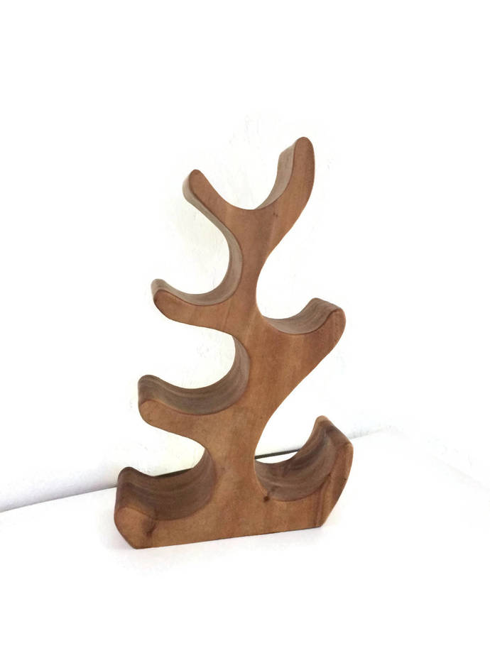 Wood Wine Rack Carved Wooden Wine Bottle Holder, Home Storage and Organization,