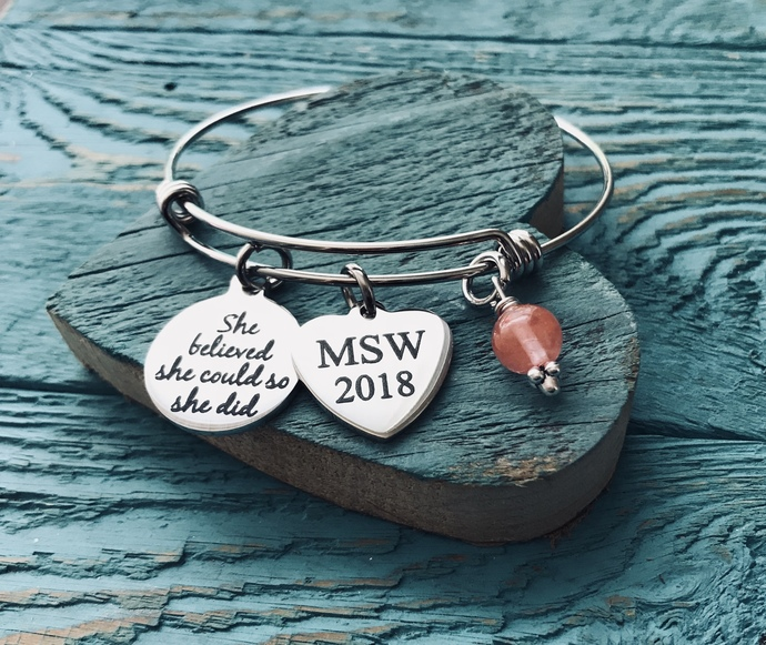 MSW, Master of Social Work, Masters degree, Social Worker, Professional Jewelry,