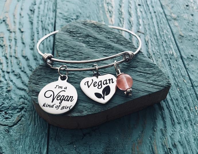 Vegan, Vegan Bracelet, Vegan Jewelry, Vegan Est, vegetarian, Lifestyle, Go