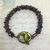 Kumihimo bracelet with marine toggle clasp