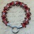 Kumihimo bracelet with hook and eye clasp