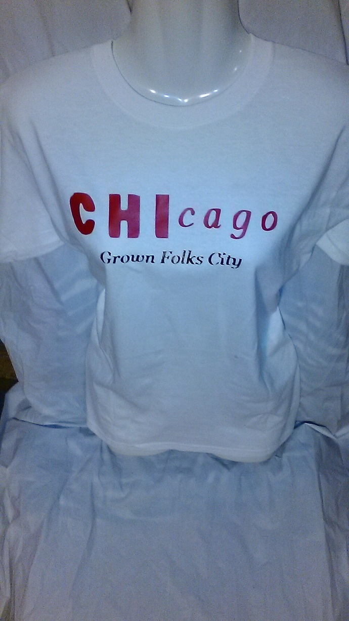 Chicago Custom Red and 14 kt Gold Metallic print