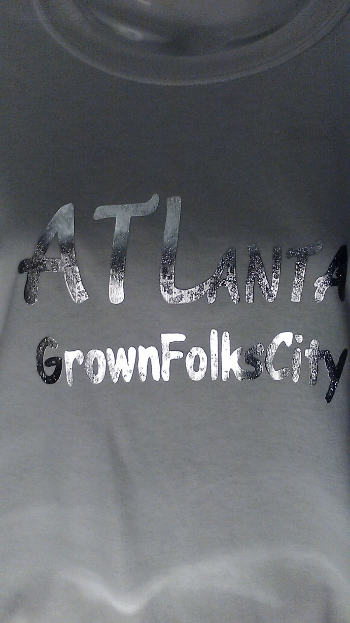 Atlanta Custom Silver Metallic unisex T-shirt