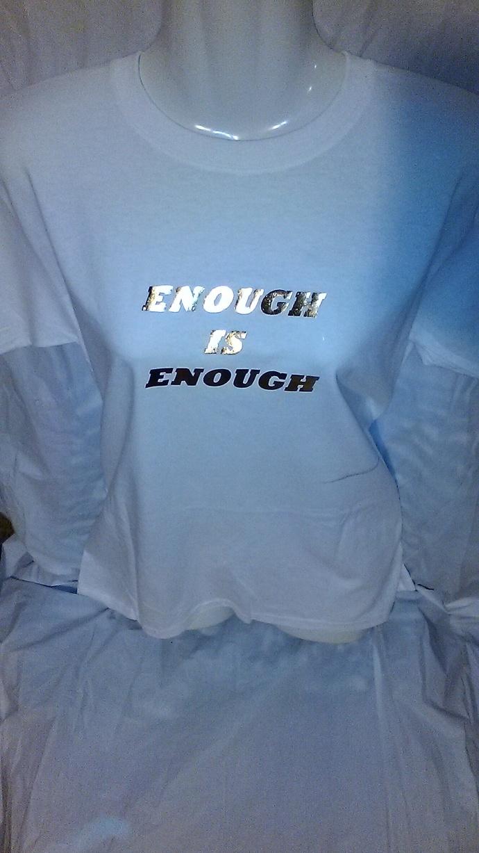 Enough Is Enough  14 kt Gold Metallic T-Shirt