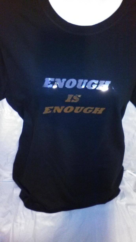 Enough is Enough Silver Metallic T-Shirt
