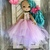 Aurora, a playful and cute dress up Tilda doll. A beautiful little fabric doll