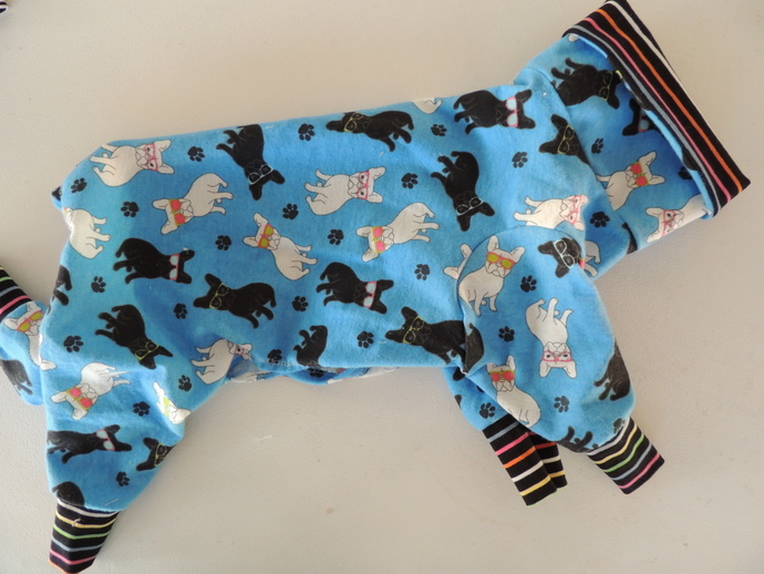 LARGE/TALL Cotton Flannel Dog Jammies with cotton knit accents