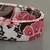 Brown Pink Floral Sparkles Adjustable Dog & Cat Collars & Martingales & Leashes