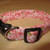 Light Pink Floral Adjustable Dog & Cat Collars & Martingales & Leashes