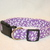 Purple Flower Petals Adjustable Dog & Cat Collars & Martingales & Leashes