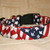 Waving American Flags Patriotic Adjustable Dog & Cat Collars & Martingales &