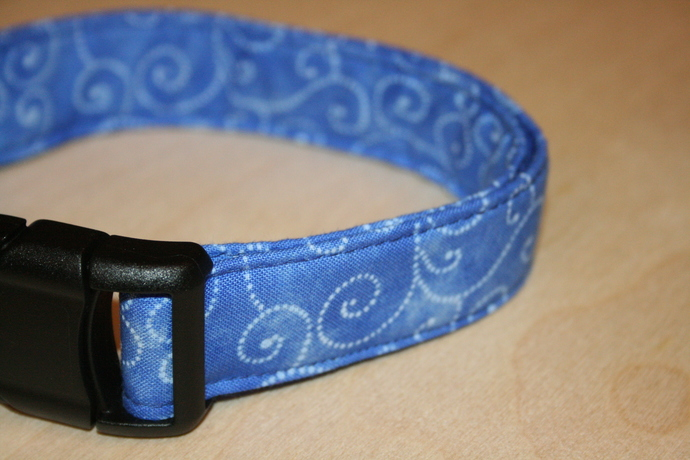 Periwinkle Blue Swirl Adjustable Dog & Cat Collars & Martingales & Leashes