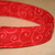 Red Swirls Adjustable Dog & Cat Collars & Martingales & Leashes