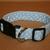 Blue & White Hearts Valentine Adjustable Dog & Cat Collars & Martingales &
