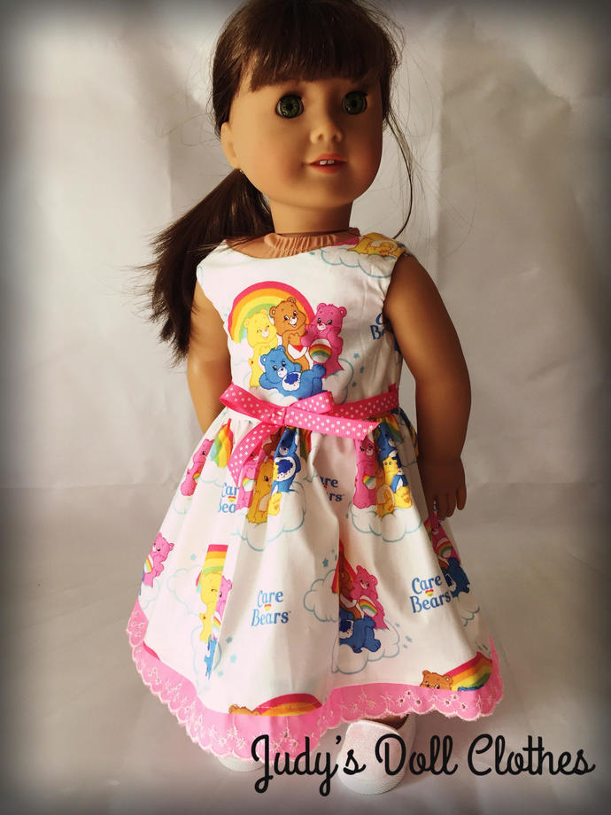 Rainbow Bear Dress clothes American Made for your 18 inch girl Doll