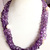 Five Strands Faceted Gemstone Amethyst Freshwater Pearl Beaded Jewelry Necklace