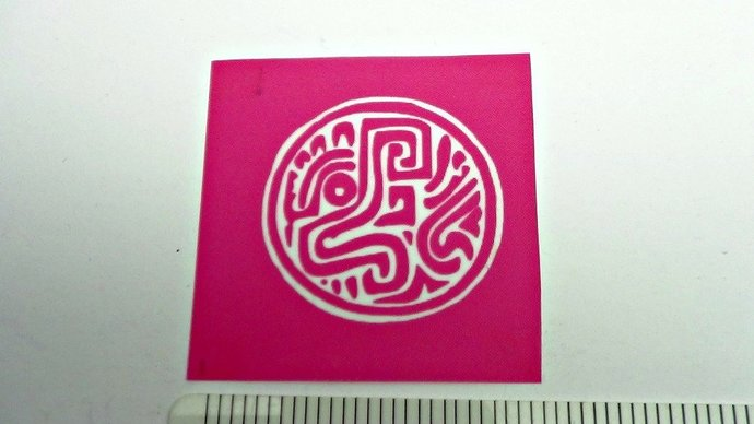 Beadcomber Silk Screen - Aztec or Mayan Feathered Serpent - silkscreen for