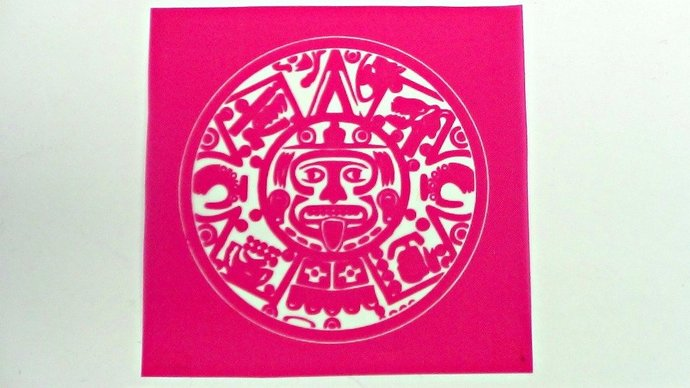 Beadcomber Silk Screen - Mayan or Aztec Sun - for polymer clay, paper, fabric,