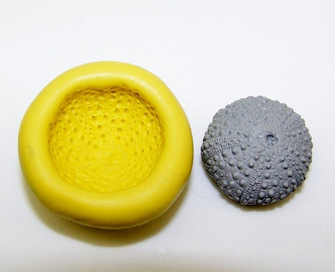 Silicone Flex Mold - 22mm Sea Urchin - Polymer Clay - Handmade