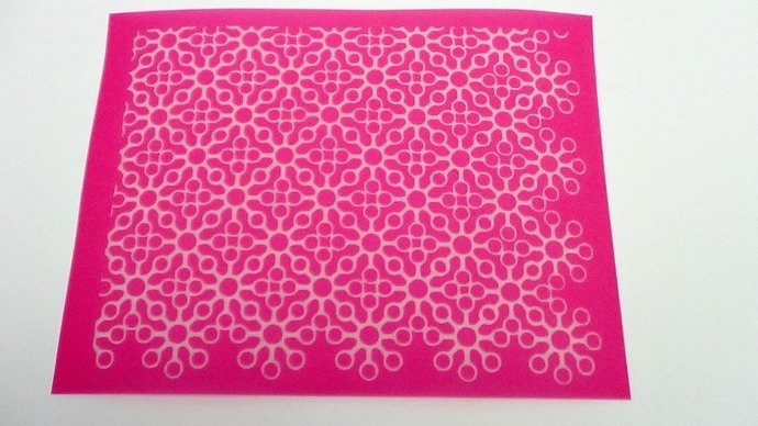 Beadcomber Silk Screen - Lace 1 Silkscreen for Polymer clay, Paper Crafts,