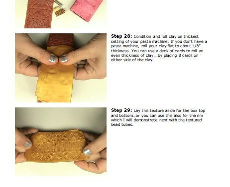 Create Matchboxes - On the Edge Boxes - Part 1 - Polymer clay Mixed Media