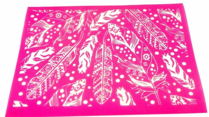 Beadcomber Silk Screen - Silkscreen Feather Plumes for polymer clay, etching