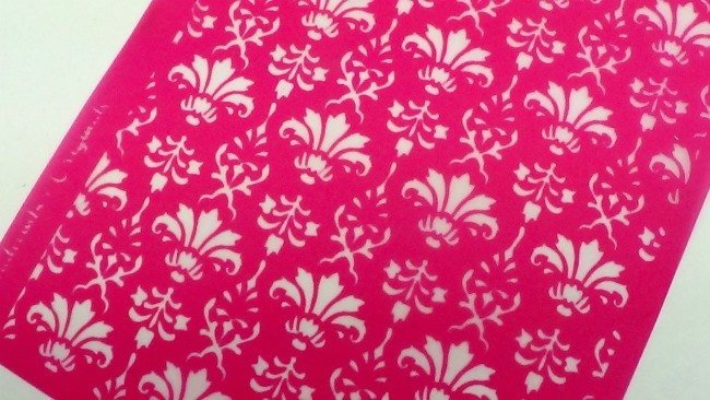 Beadcomber Silk Screen - Damask Victorian Floral Silkscreen for Polymer clay, or