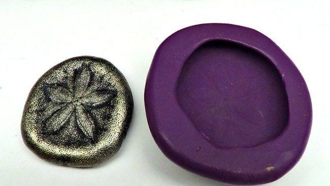 Silicone Flex Mold - 30mm Sand Dollar - for Polymer Clay, Resin, Clay, precious
