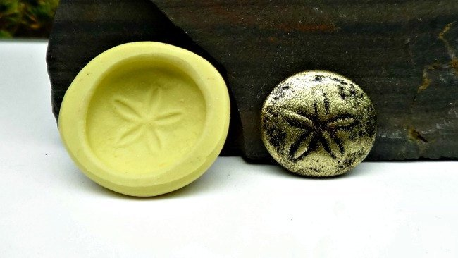 Silicone Flex Mold - 18mm Sand Dollar - for Polymer Clay, Resin, Clay, precious