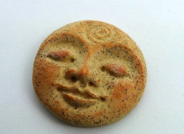 Art Doll Face Cabochon in faux sandstone or rhyolite - 30mm
