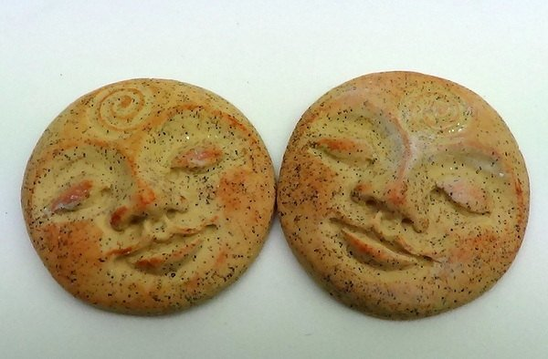 Art Doll Face Cabochon in faux sandstone or rhyolite - 30mm