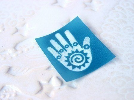 Beadcomber Silk Screen - Friendship or healing hand design silkscreen for
