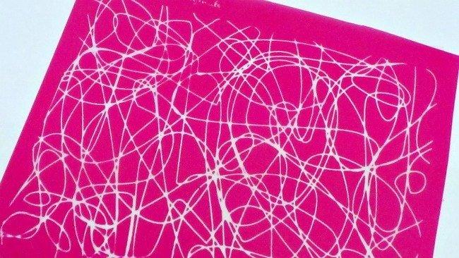 Beadcomber Silk Screen - Scribbles Silkscreen for Polymer clay, or flat surfaces