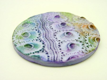 Large purple Sea Urchin Cabochon - 57mm handmade focal