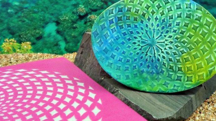 Beadcomber Silk Screen - Mandala Illusions 3 Silkscreen Design BC61 for polymer